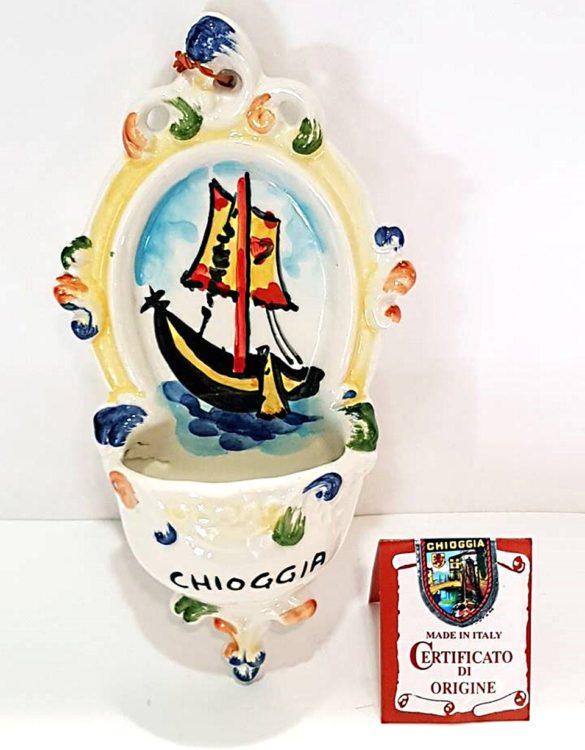 Acquasantiera in ceramica