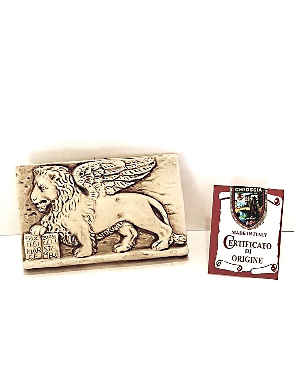 Leone con libro ceramica piccolo made in veneto for Libro in ceramica