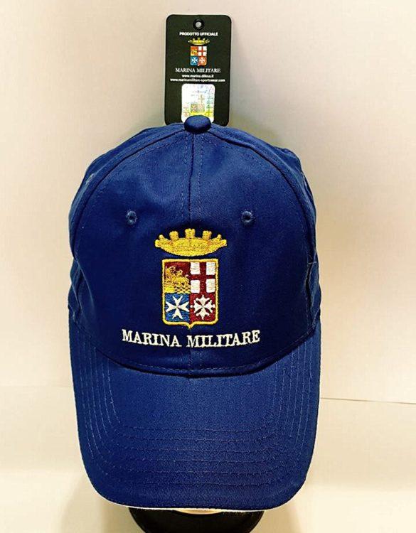 Cappello cotone marina militare ufficiale celeste