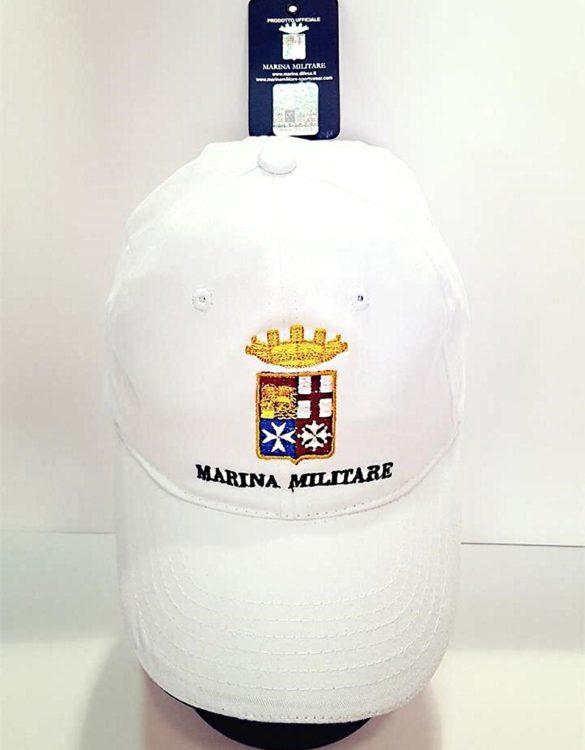 Cappello cotone marina militare ufficiale bianco