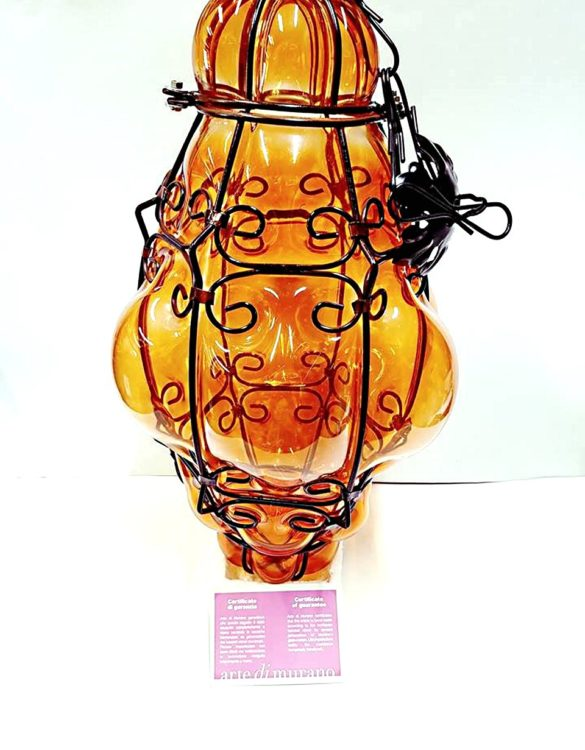 Lanterna veneziana cm 50 arancio