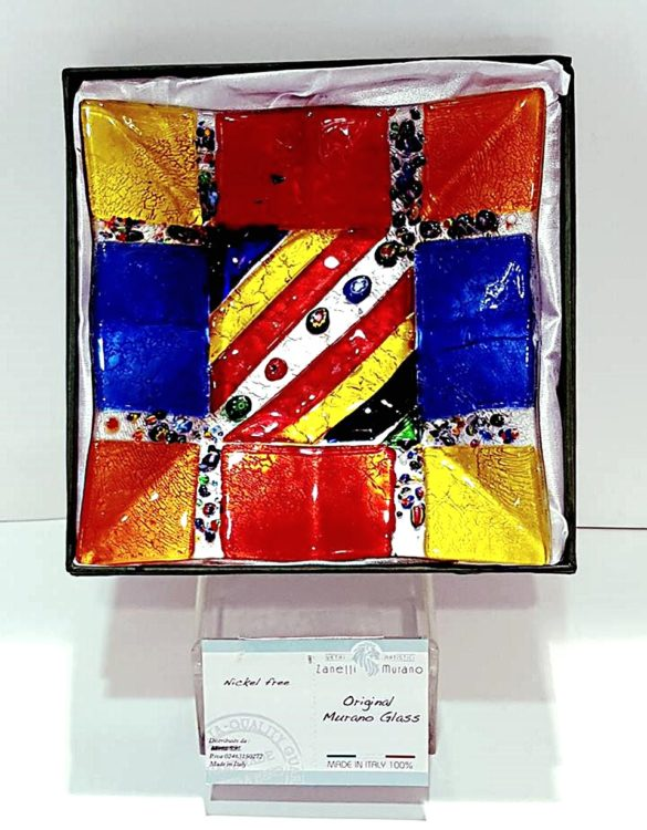 Piattino murano multicolre con murrine
