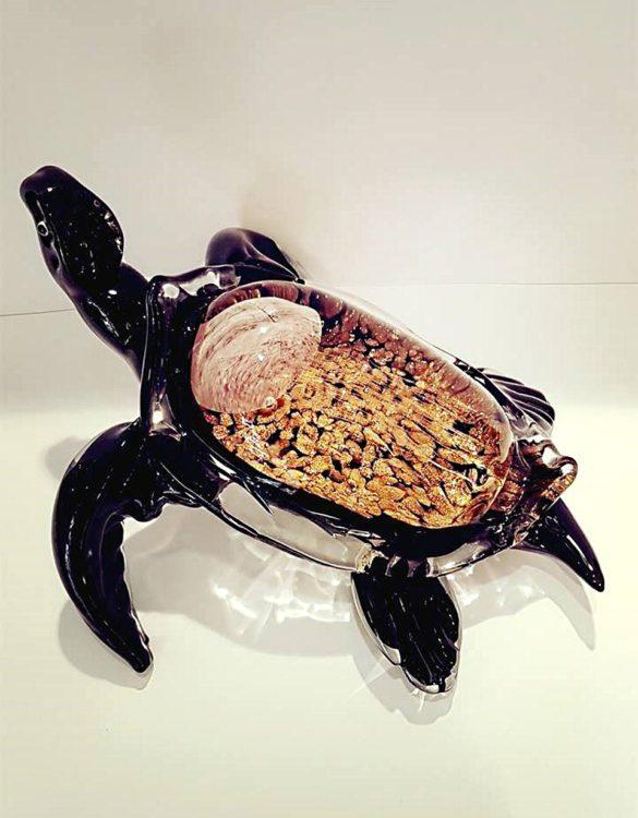 Tartaruga con avventurina vetro di Murano