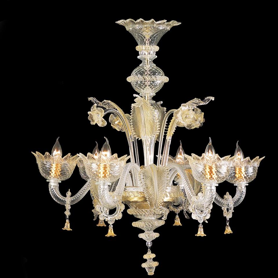 Lampadario vetro di murano 8 luci — Venturini Souvenirs - Vetro di ...