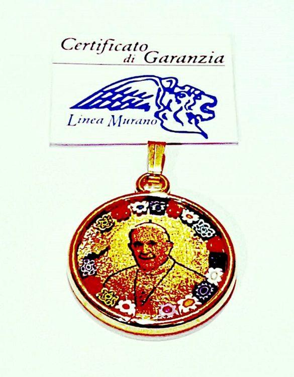 Pendaglio murrina papa giovanni paolo 2