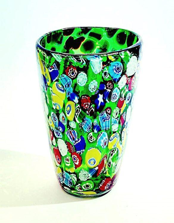 Vaso vetro murrina verde