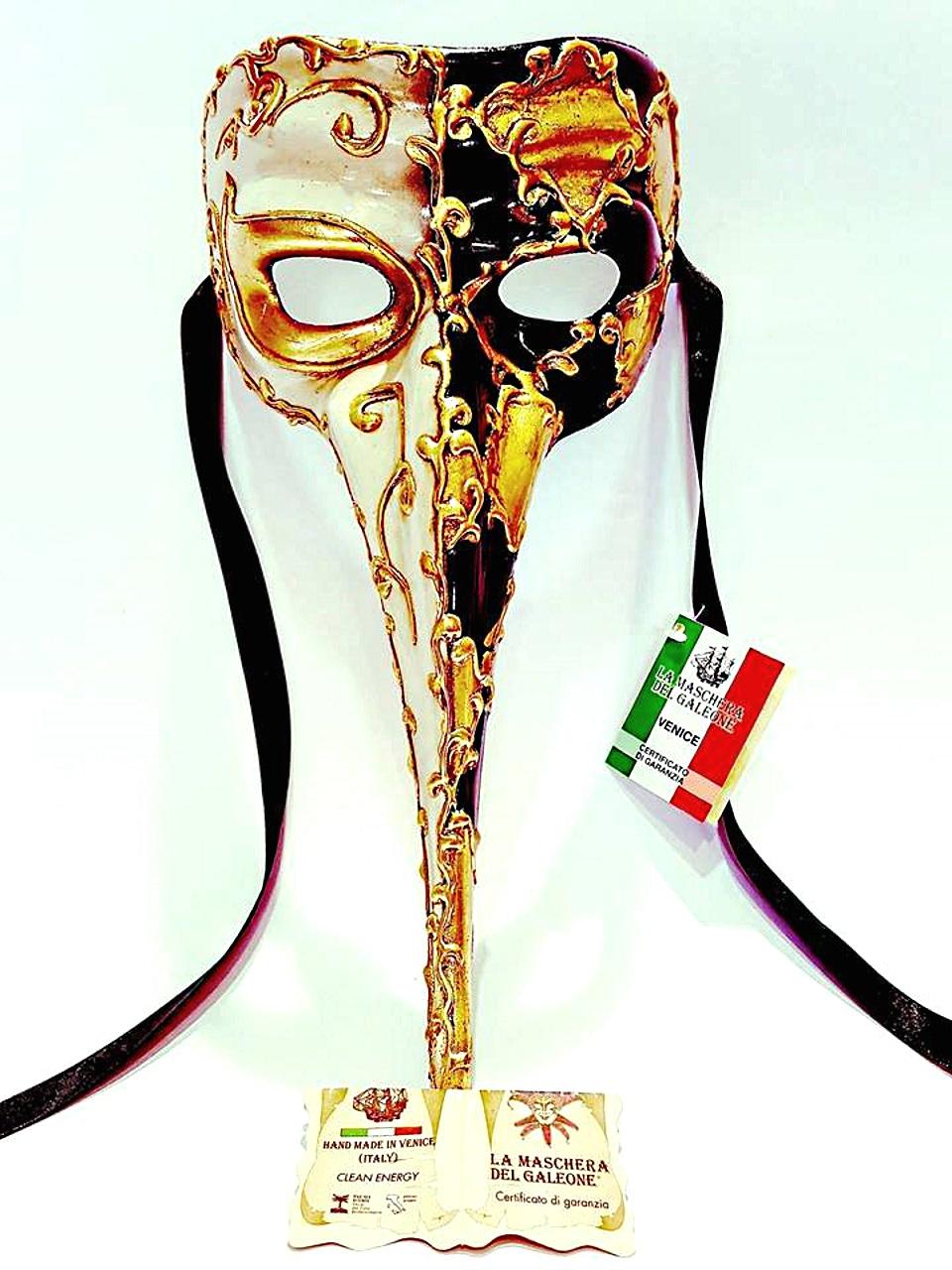 Maschera veneziana medico della peste — Venturini Souvenirs - Vetro ... a287d5a2ac00