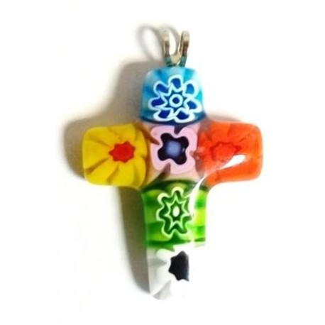 Pendente croce con murrina