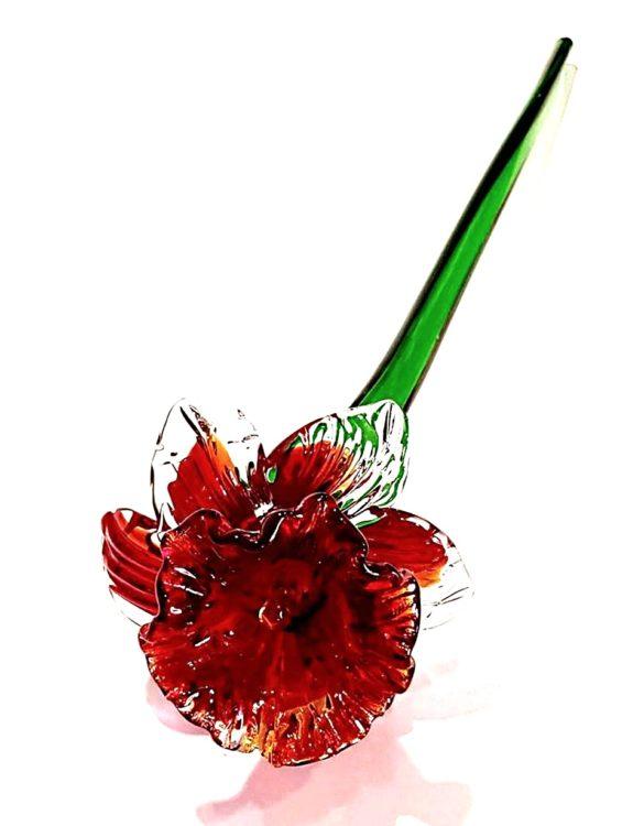 Fiore di vetro di murano garofano