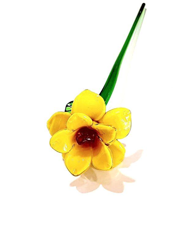 Fiore di vetro di murano narciso
