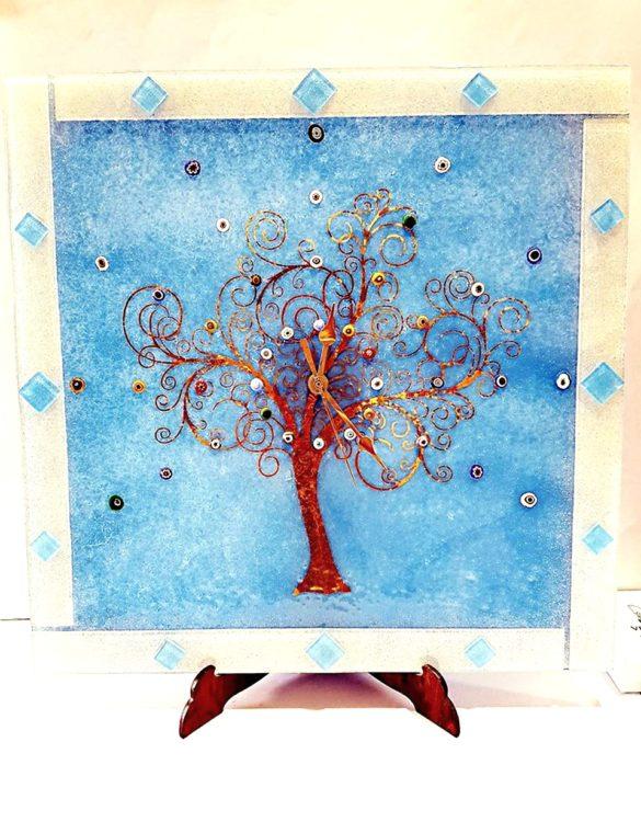 Orologio da muro celeste albero della vita