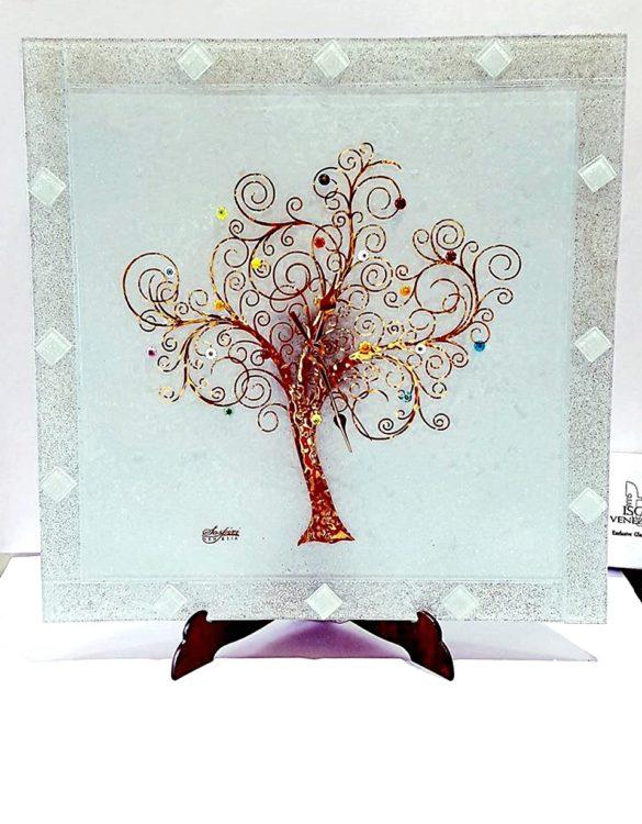Orologio da muro bianco albero della vita
