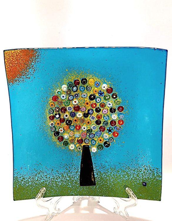 Piattino grande albero della vita con murrine