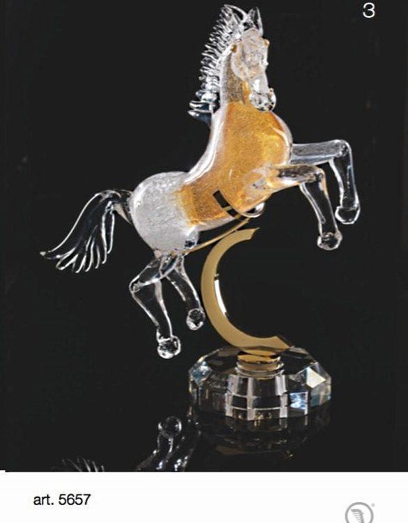 Cavallo con bolle colorato con base e appoggio