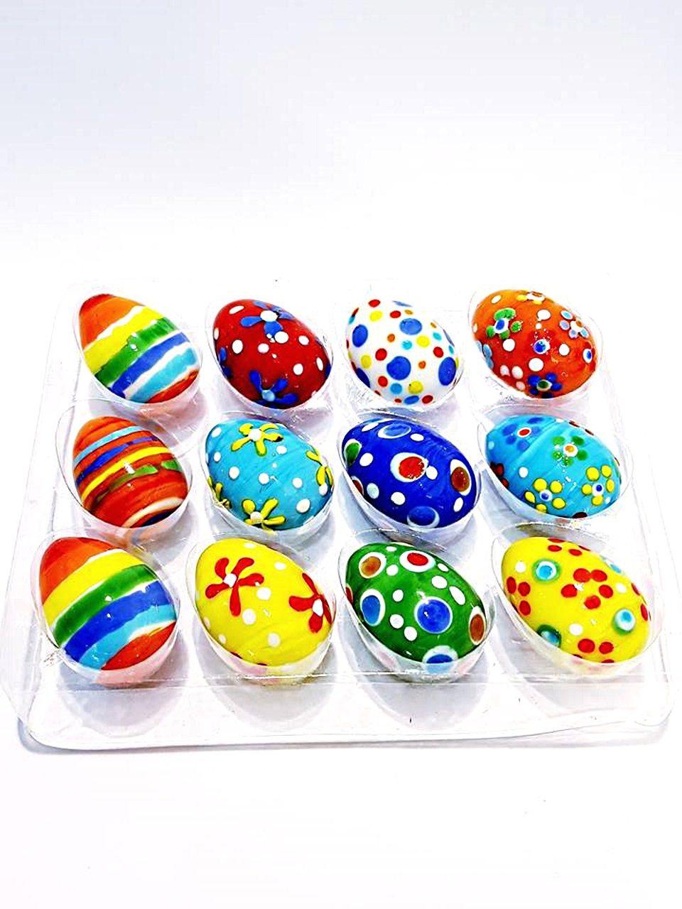 Uova vetro puntini set da 12 pezzi
