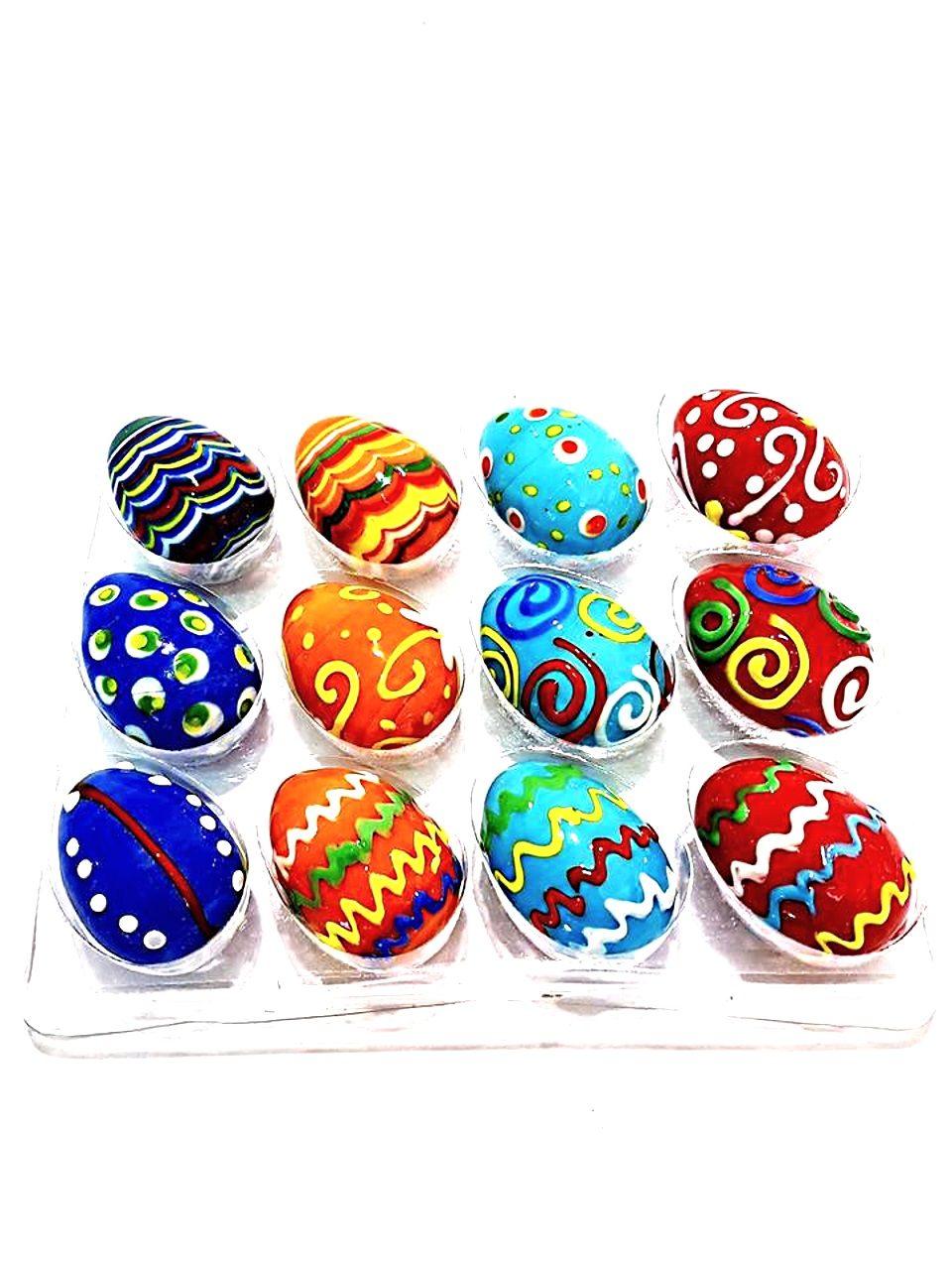 Uova vetro colorate set da 12 pezzi