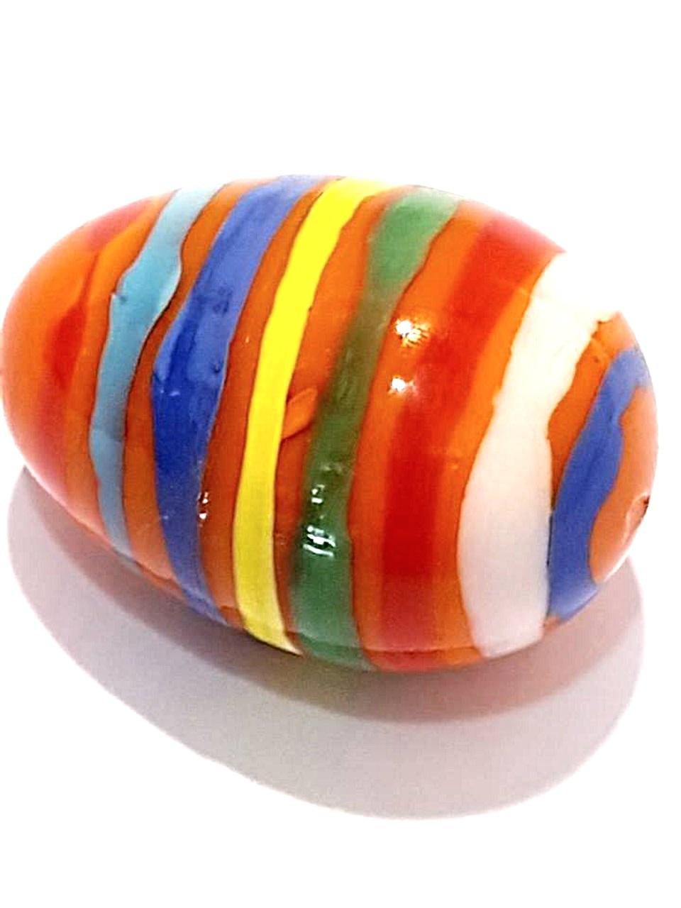Uova vetro grandi colorate