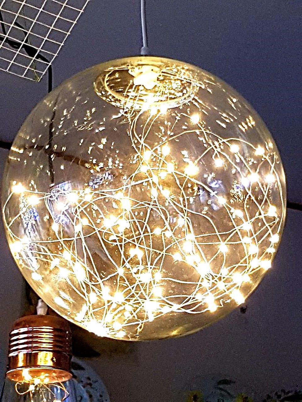 Lampadario sfera in vetro
