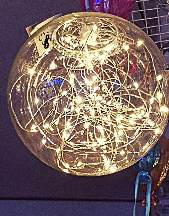 Lampadario sfera in vetro per arredamento e illuminazione